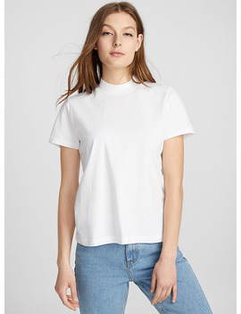 High Neck Organic Cotton Tee by Frank And Oak