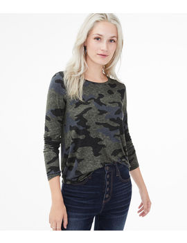 Long Sleeve Seriously Soft Camo Crew Tee by Aeropostale