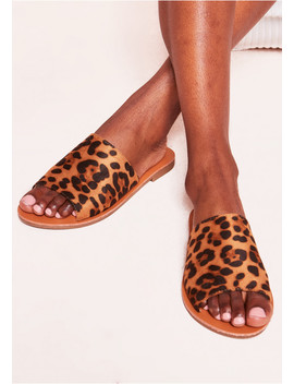 Ayla Leopard Print Mule Sandals by Missy Empire