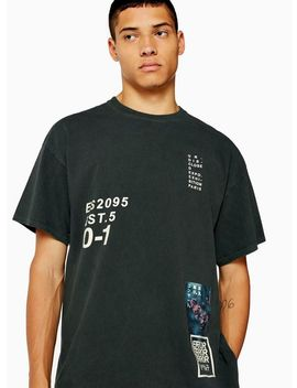 Khaki Placement Print T Shirt by Topman