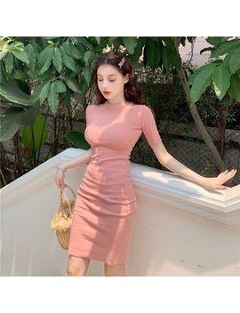Be Bonita   Plain Short Sleeve Bodycon Midi Dress by Be Bonita