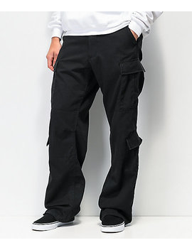 Rothco Paratrooper Vintage Black Cargo Pants by Rothco