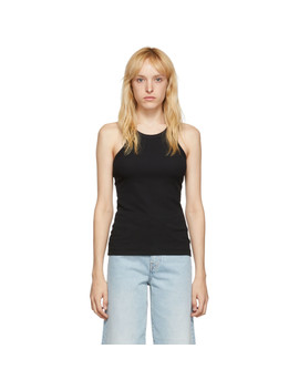 Black Organic Espera Tank Top by TotÊme