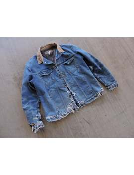 Beat To Hell Rare Vintage Distressed Wranlger Denim Jacket Xl by Etsy