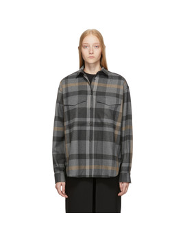 Grey Check Novella Shirt by TotÊme