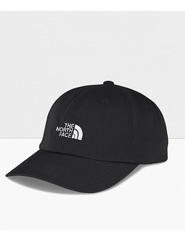 the-north-face-the-norm-black-strapback-hat by zumiez