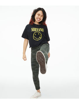 Nirvana Cropped Graphic Tee by Aeropostale