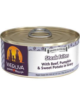 Weruva Steak Frites With Beef, Pumpkin & Sweet Potatoes In Gravy Grain Free Canned Dog Food by Weruva