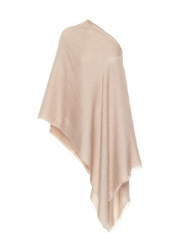 Embellished Silk, Mohair And Cashmere Blend Poncho by Brunello Cucinelli