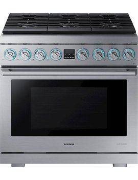 Chef Collection 5.9 Cu. Ft. Freestanding Gas Convection Range   Stainless Steel by Samsung