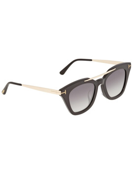 Tom Ford Anna Gray Gradient Geometric Ladies Sunglasses Ft0575 F 01 B by Tom Ford