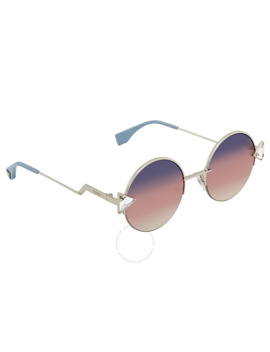 Pink Gradient Round Sunglasses Ff 0243/S Tjv/Ff 51 by Fendi