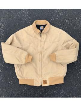 Vintage Retro 90's Carharrt Tan Work Jacket Coat by Vintage  ×  Carhartt  ×