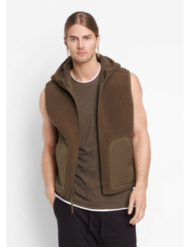 Vme190 Nwt Vince Reversible Sherpa Men Hooded Vest Jacket Size S $325 by Vince