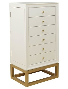 Jewelry Armoire, White/Gold by Home Fare