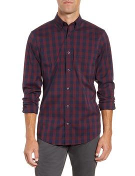 Tech Smart Regular Fit Check Button Down Shirt by Nordstrom Men's Shop