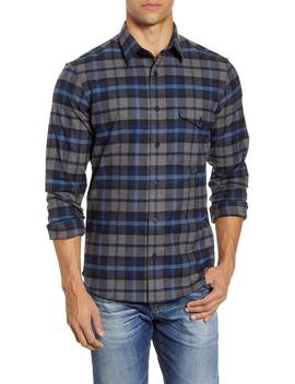 Trim Fit Plaid Flannel Button Up Shirt by Nordstrom Men's Shop