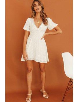 Just Because Mini Dress // White by Vergegirl