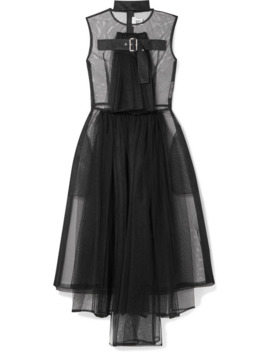 Draped Tulle Dress by Noir Kei Ninomiya
