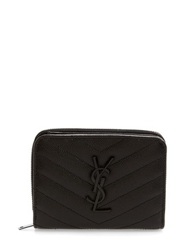Small Monogram Grained Leather Wallet by Saint Laurent
