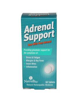 Natra Bio, Adrenal Support, 60 Tablets by Natra Bio