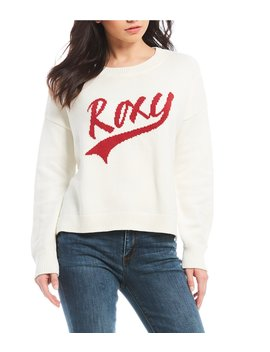 Exchange Your Life Long Sleeve Graphic Sweater by Roxy