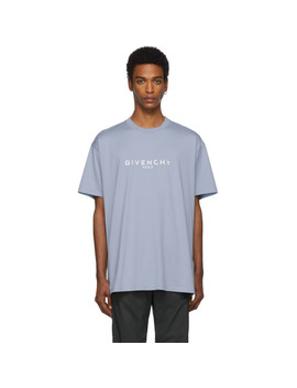 Blue Oversized 'paris' Vintage T Shirt by Givenchy