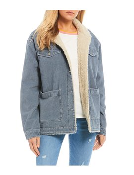 Bright Night Corduroy Sherpa Jacket by Roxy