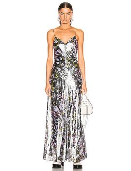 Lurex Silk Dress by Ganni