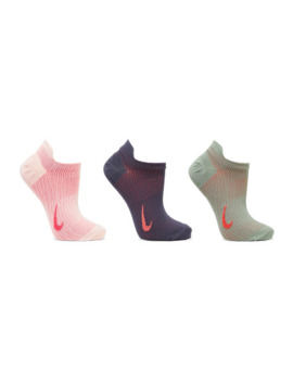 Everyday Plus Set Of Three Dri Fit Stretch Knit Socks by Nike