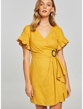 Inez Buckle Linen Dress by Portmans