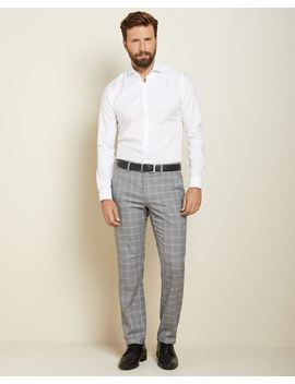 Tailored Fit Heather Grey Check City Pant by Rw & Co