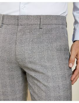 Slim Fit Heather Grey Check City Pant by Rw & Co
