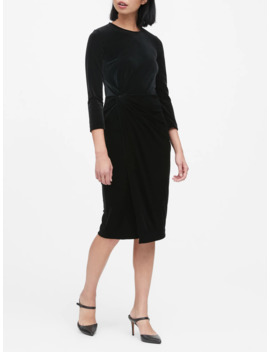 Velvet Twisted Dress by Banana Repbulic