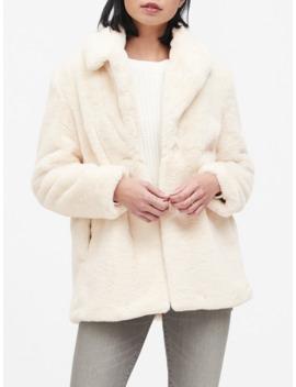 Faux Fur Jacket by Banana Repbulic