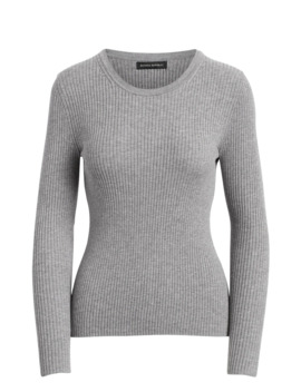 Fitted Ribbed Sweater Top by Banana Repbulic