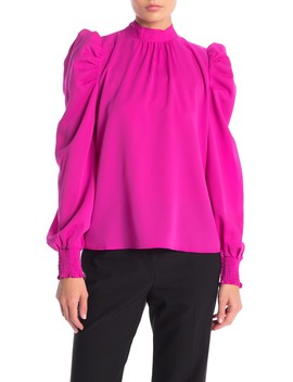 Puff Sleeve Solid Blouse by Jealous Tomato