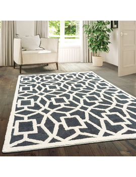 United Weavers Telegonus Ithaca Geometric Grey Woven Microfiber Area Rug by United Weavers Of America