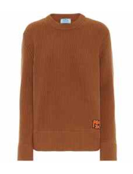 Ribbed Cashmere And Wool Sweater by Prada