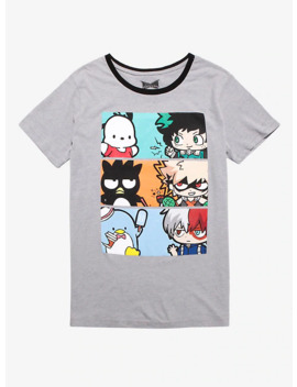 My Hero Academia X Hello Kitty And Friends Trio Panel Ringer T Shirt by Hot Topic