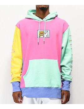 ripndip-x-teddy-fresh-20-colorblock-hoodie by zumiez