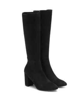 Livia 80 Suede Knee High Boots by Stuart Weitzman