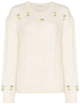 Floral Embroidered Jumper by Alessandra Rich