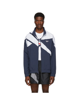 Navy & White Vector Track Jacket by Reebok Classics