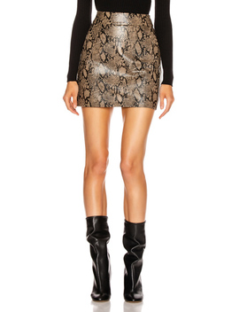 Embossed Leather Skirt by Frame