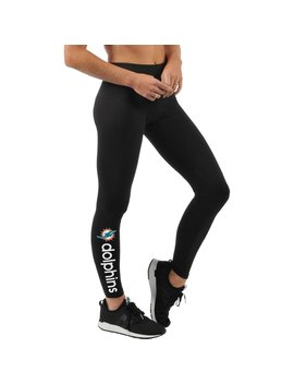 Women's Miami Dolphins G Iii 4 Her By Carl Banks Black Post Season Leggings by Nfl