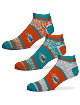 Miami Dolphins For Bare Feet 3 Pack Triplex Heathered Socks Set by Nfl