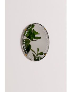 Emerson Etched Oval Wall Mirror by Urban Outfitters