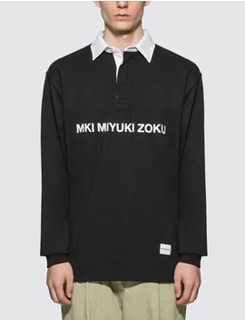 Logo Rugby Polo Shirt by Mki Miyuki Zoku