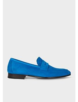 Men's Indigo Suede 'glynn' Loafers by Paul Smith